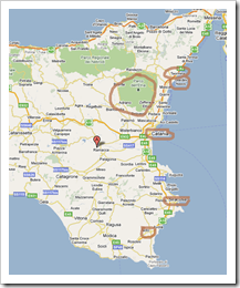 harta Sicilia locuri vizitate