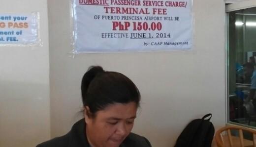 Airport exit fee Puerto Princesa – Palawan